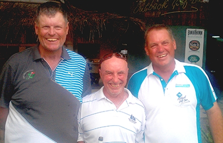 Sugar Ray, centre, the winner at Pattana on Wednesday joins the two 43pt men from Siam Plantation; Jim Smith on the left and Robert Rix on the right.