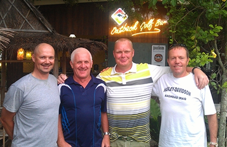 Friday winners at Green Valley, from left, Andre Coetzee, Steve Plant, Mark Riggall and Clyde Smith.