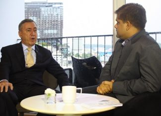 Nigel Cornick, CEO of Kingdom Property spoke to Tony Malhotra Assistant MD of Pattaya Mail Media Group about his upcoming two billion baht 'Southpoint Pattaya' project in the Pratamnak area. The interview was held in the Kings Club Lounge of the Hard Rock Hotel. Read the full story in the upcoming 3 August issue of the Pattaya Mail Real Estate Monthly. You can also watch the full interview on Pattaya Mail TV (PMTV) on Monday 30 July 2012.