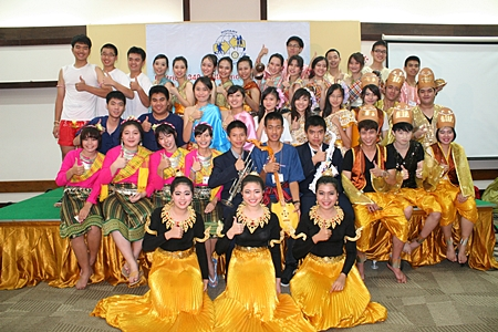 Youth exchange students show off their talents during an evening of song and dance.