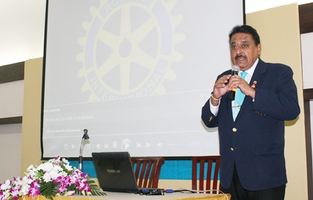 PDG Peter Malhotra extolls the virtues of Rotary and the international organisation's humanitarian service programs.
