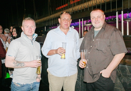 (L to R) Mark Dubois (general manager G-Care Electronics Limited), Garry Irvin (Manarco Recruitment Limited), and Matt O'Sullivan (founder & director of Open Advertising).