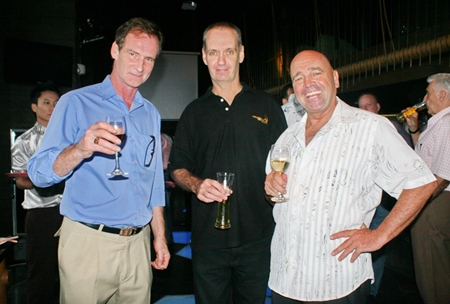 (L to R) Tommy Dee (Fabulous 103 FM), Barry Main (director of Sales ThaiVisa Expat Group Co., Ltd.), and Carey J. Archer (Archer Media Group).