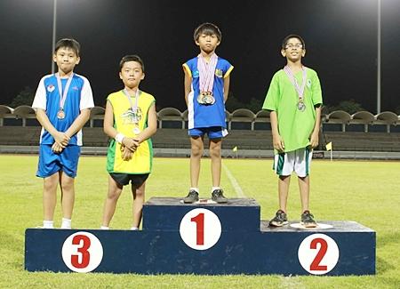 Nut winning Gold medal for 800 meter-run.