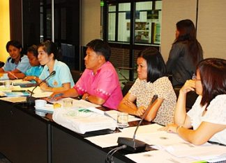 Members of the Pattaya English Teacher's Club meet for the first time at City Hall.
