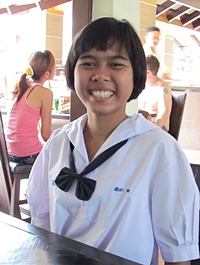 The photo Bruce supplied showing 16-year-old Sarocha in May 2012.