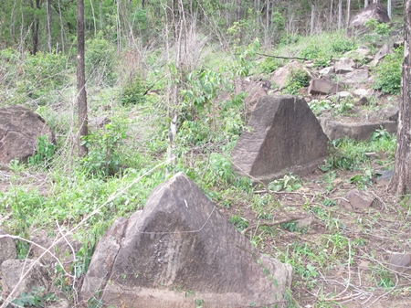 Stone monuments mark what some believe is part of an ancient city.