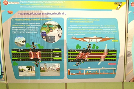 An artist's conception of the planned improvements to Highway 7 in and near Laem Chabang.