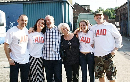 Adam's parents Andrew and Adele Pickles with PickleAID fundraisers. Pictured are (from left) Neil Clappison, Katie Jones, Andrew Pickles, Adele Pickles, Lynn Haygarth and Julian Farrell. (Copyright Melissa Connolly @ melissaphotography.co.uk)