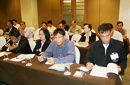 Election officials meet in Chonburi to discuss their responsibilities during election times.