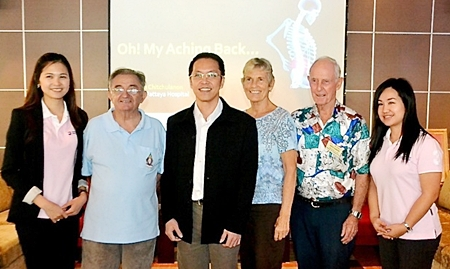 Dr Tawan, fellow staff of BHP, and board members of PCEC pose for a photo after Dr Tawan's talk.
