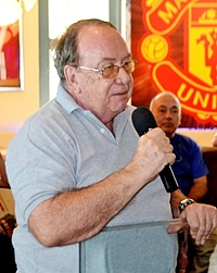 Immediate Past Chairman Michel de Goumois announces the members dinner to be held this month at the Purple Space Monkey in Jomtien.