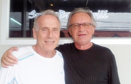 Dale Murphy, left, with Johann Eschmann.