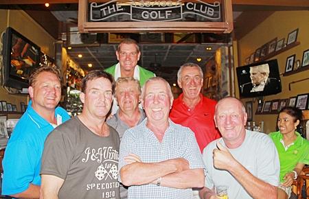 Front Row: Kabinburi winners John McHugh, Tony Duthie and Bob Newell.