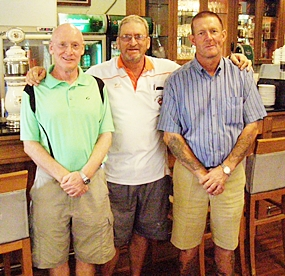 Graham Buckingham, Peter Blackburn & Fred Land.