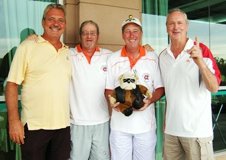 Ken Bernek, Peter Blackburn, Gerry Arthur with Deefa & Martin Todd.