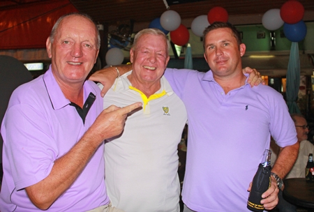 """""""The 49ers"""" - Bob Newell, Joe Mooneyham and Gavin Perfect searching for Ernie Hill."""