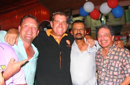 Darren, Simon, Chaten and Steve.