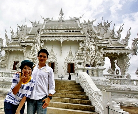 Wat Rong Khun (the White Temple) Chiang Rai. (Photo by Andrew J Wood)