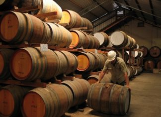 Part of Angove's fortified wine solera system.
