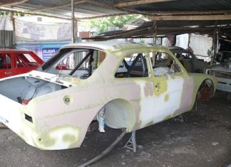 Mk1 Escort shell waiting paint.