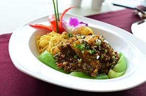 Sautéed Black Cod and Hong Kong noodles at The Peak