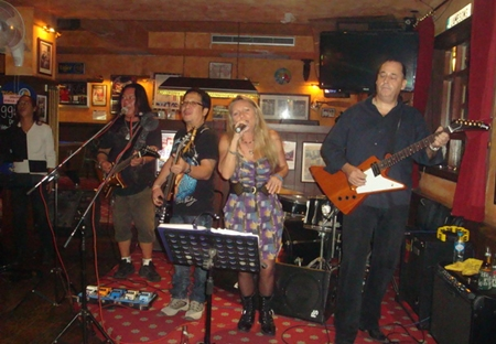 Pop's Pattaya All Stars rock Jameson's on Friday night.