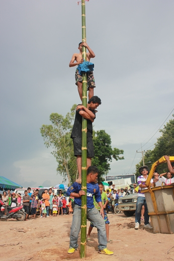 There is cash at the top of the greased pole; yours if you can get to it.
