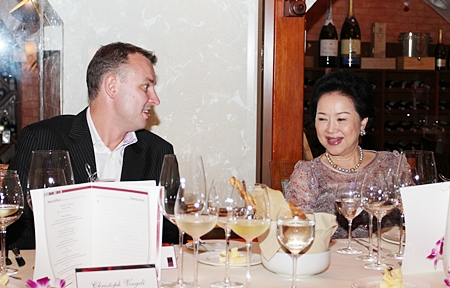 The Grill Room came alive again as wine lovers gathered for an evening of fine wining and dining.