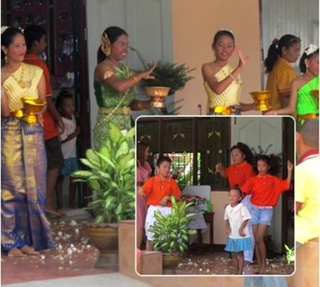 Thai children just love to dance.