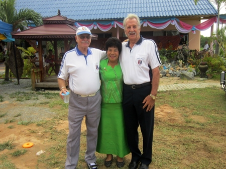 Khun Chu with PSC members William and Nigel.