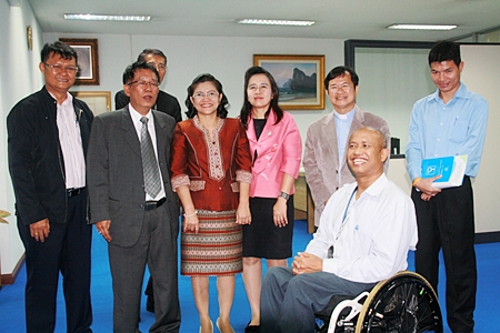 Members of the Redemptorist Center for Persons with Disabilities committee prepare to meet with top government officials.