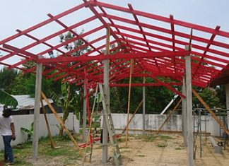 Classroom under construction.