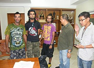 The Al-Balushi brothers (L to R) Arlf, Jamil and Khalid have been arrested on immigration charges.