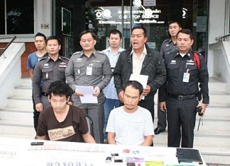 Police announce the arrest of two Thai men accused of being major crystal methamphetamine dealers in Pattaya.
