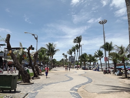 The beachfront promenade might be brighter now, but it is also much hotter.
