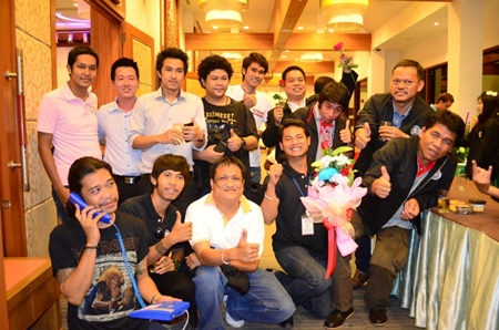 Pattaya Press Association members celebrate their step up from a club to an association.