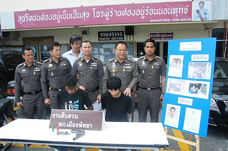 Woranat Phuengphai and Pakorn Ruengruen have been arrested for their alleged involvement in the shooting death of Nathee Kerthong.