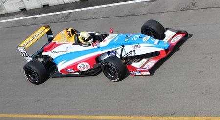Sandy Stuvik on the Assen racetrack.