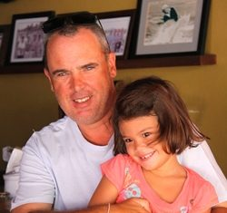 Siam Old Course winner Jeff Calrow with daughter Alice.
