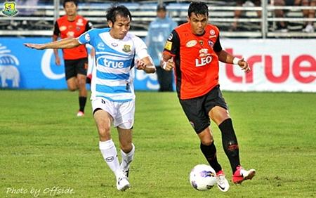 Pattaya United in action against Chaingrai United at the Nongprue Stadium in Pattaya, Saturday, July 28. (Photo/Pattaya United)