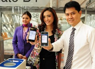 It is now possible to use your smart phone to board Thai Airways flights with their Mobile 2D Barcode Boarding Pass.