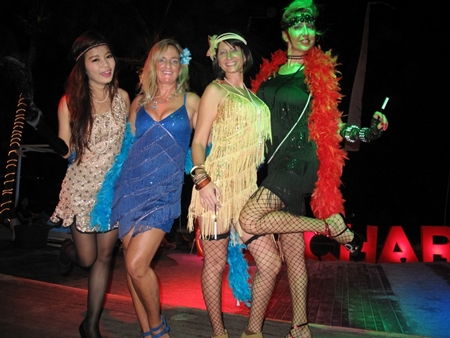 Socialites get into the swing of things at Pullman Pattaya Hotel G's 'Charleston' theme party.