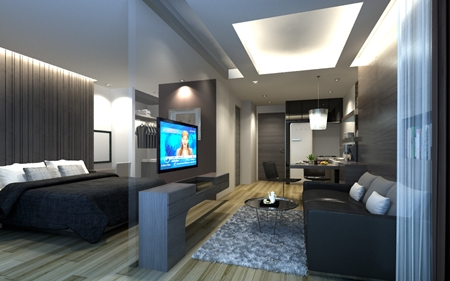Room sizes will range from 29sqm studios to 60sqm two-bedroom units.
