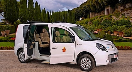 Electric Popemobile.