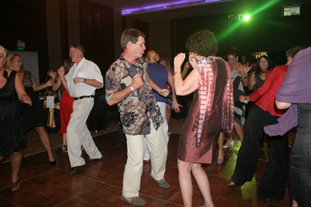 Ambitious partiers dance the night away.