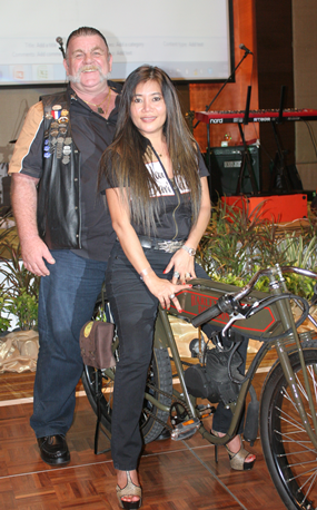 Kevin Smith successfully outbid all other bidders to obtain the handcrafted vintage motorcycle with an offer of B66,000.