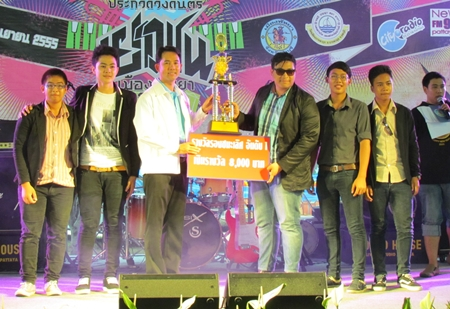 First runner-up was Humor band, receiving 8,000 baht from the mayor.