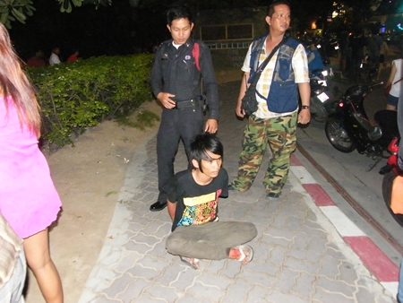 Volunteers managed to grab only one of the attackers.