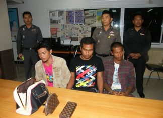 These three men allegedly beat and robbed a transvestite after a night of drinking in Pattaya.